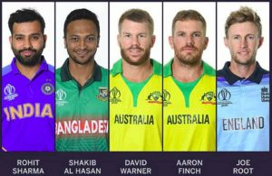Top 5 Batsman of the ICC World Cup Cricket 2019