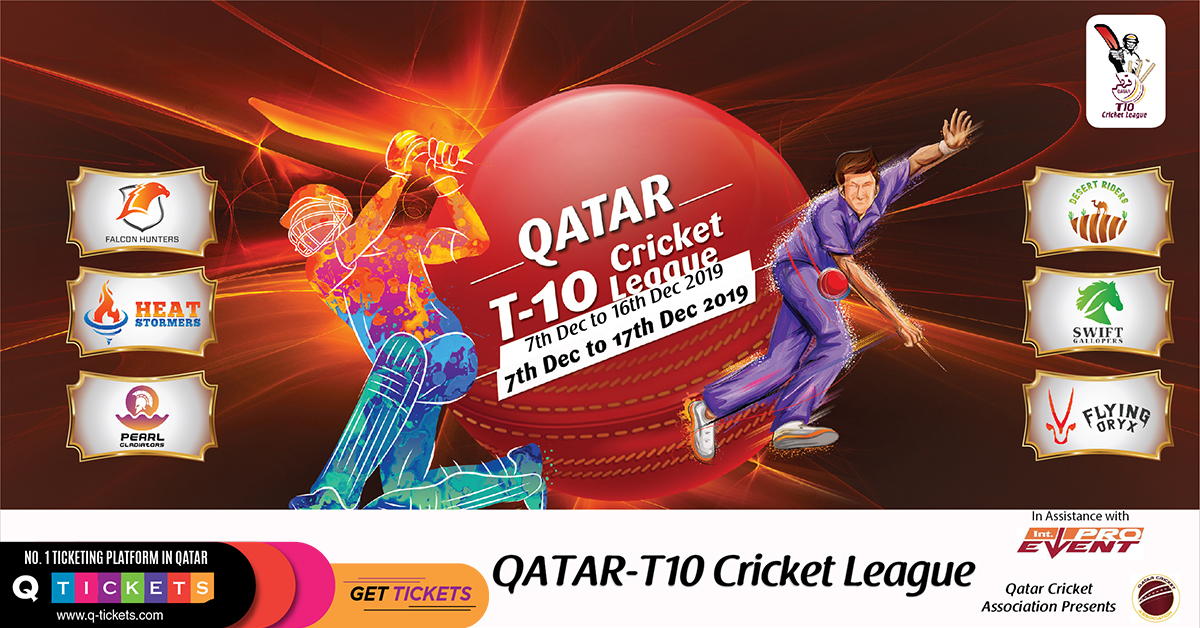 Qatar T10 League 2019 Schedule, Teams, Squads and Match Timings