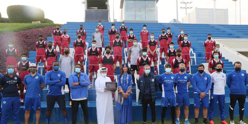 UNESCO Football World Heritage Official Visits Aspire Academy