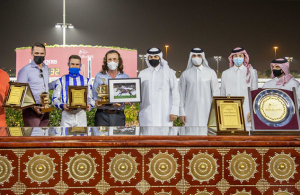 OFF HE GOES Battles Hard for The Late Yousef Al Romaihi Cup Victory