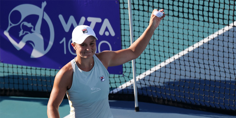 Barty survives scare for first 'bubble win'