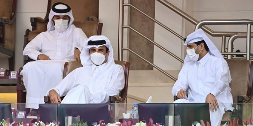 HH the Amir Attends Part of the Opening of Qatar Total Open 2021 for Women's Tennis