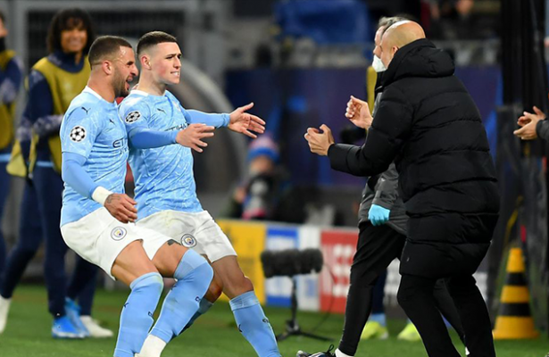 Man City reach Champions League semis with 2-1 win at Dortmund