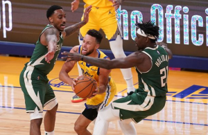 NBA roundup: Warriors edge Giannis-less Bucks