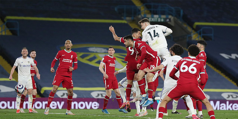 Late Llorente header earns Leeds draw with Liverpool