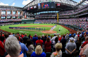 Fans pack stands as Texas Rangers welcome full capacity