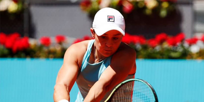 WTA roundup: Ashleigh Barty needs 3 sets to advance in Madrid