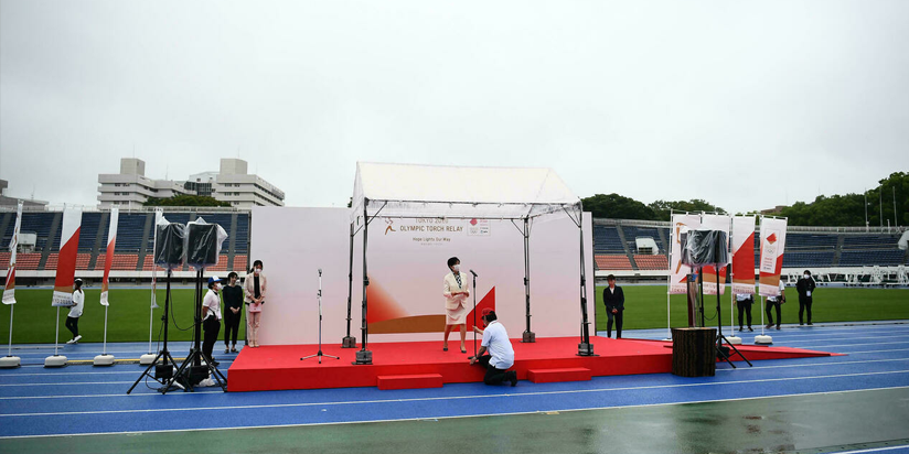 Olympic flame arrives in Tokyo for no-spectator relay