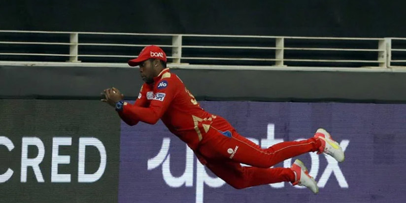 Fabian Allen Takes Stunning Diving Catch To Dismiss Liam Livingstone