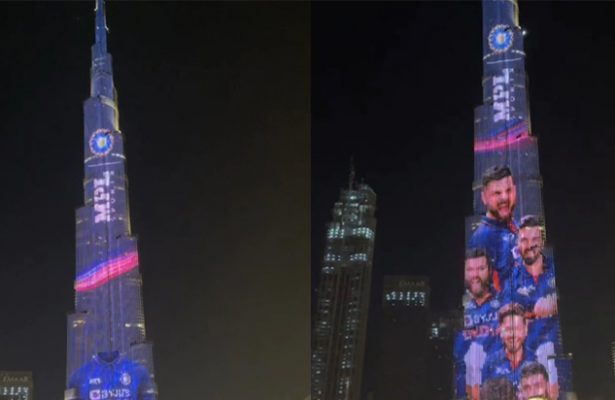 Burj Khalifa Lights Up In Team India's Colours Ahead Of T20 World Cup. Watch
