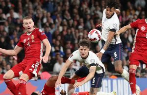 England held 1-1 by Hungary in match marred by crowd violence